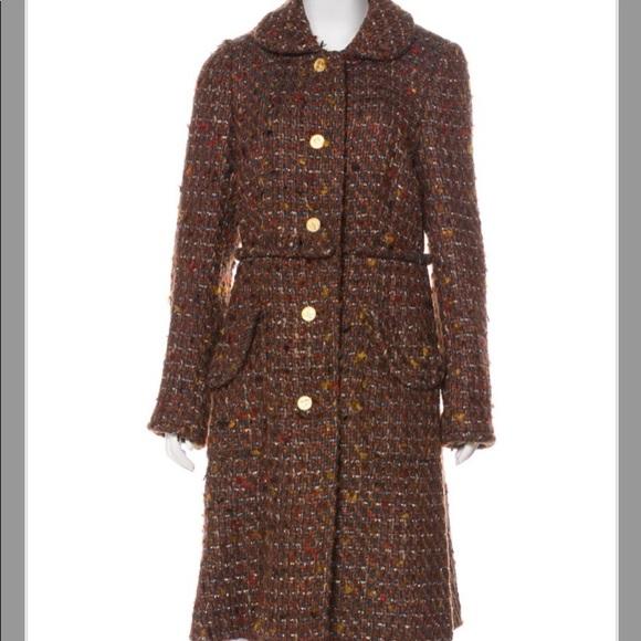 KATE SPADE BROWN BOUCLE Fall Winter Wool COAT